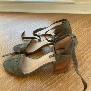 Tie Strap Heeled Sandals